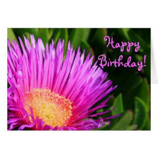 Happy Birthday Iceplant Blossom Greeting card