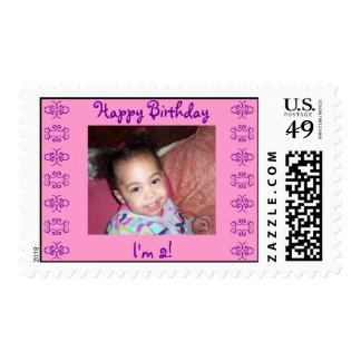 Happy Birthday, I'm 2-Personalized Stamp!