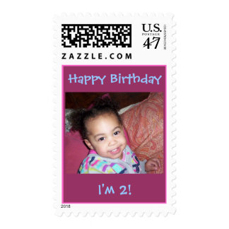 Happy Birthday, I'm 2!-Picture Stamp