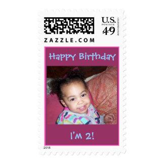 Happy Birthday, I'm 2!-Picture Stamp