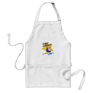 Happy Birthday - I'm ONLY 100 Adult Apron