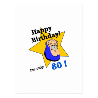 Happy Birthday - I'm ONLY 80.png Postcard