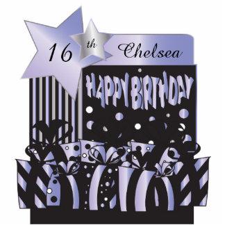 Happy Birthday in Elegant Purple | DIY Name & Age Cutout