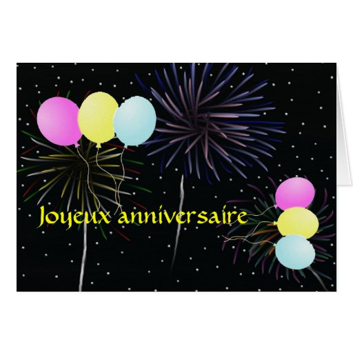 Happy Birthday In French Card