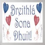 Happy Birthday! in Irish Gaelic Poster