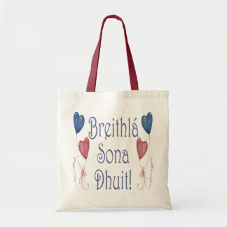 Happy Birthday! in Irish Gaelic Tote Bag