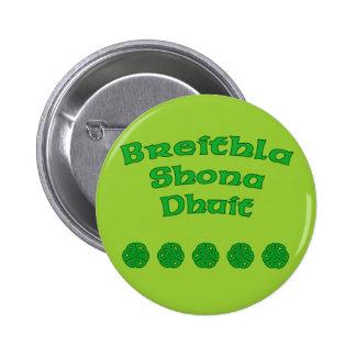 Happy Birthday In Irish Pinback Button