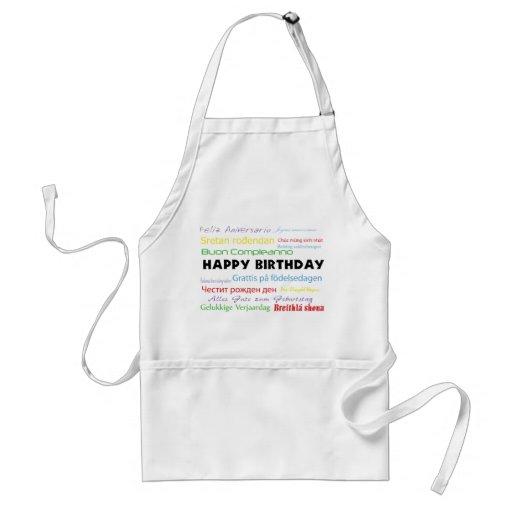 Happy Birthday in Many Languages Apron