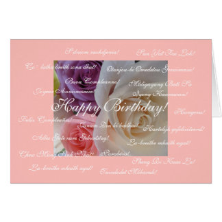 Happy Birthday in many languages Card