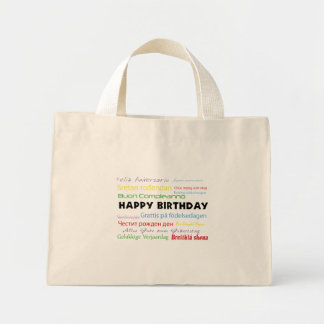 Happy Birthday in Many Languages Reusable Bag