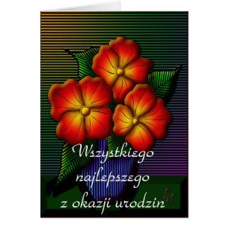 Happy Birthday in Polish Card