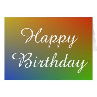 Happy  Birthday in rainbow texture Card
