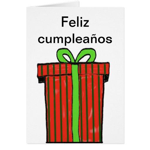 Happy Birthday In Spanish Card
