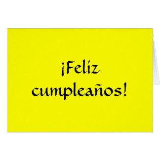 Happy Birthday in Spanish! Greeting Card