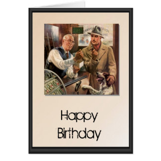 Happy Birthday - In the hunting and fishing store Card