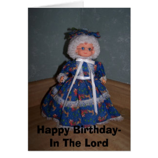 Happy Birthday- In The Lord, for the graying lady Card