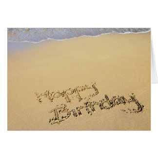 Happy Birthday in the Sand Card