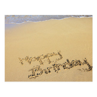Happy Birthday in the Sand Postcard