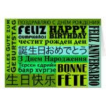 Happy Birthday International Style Cards