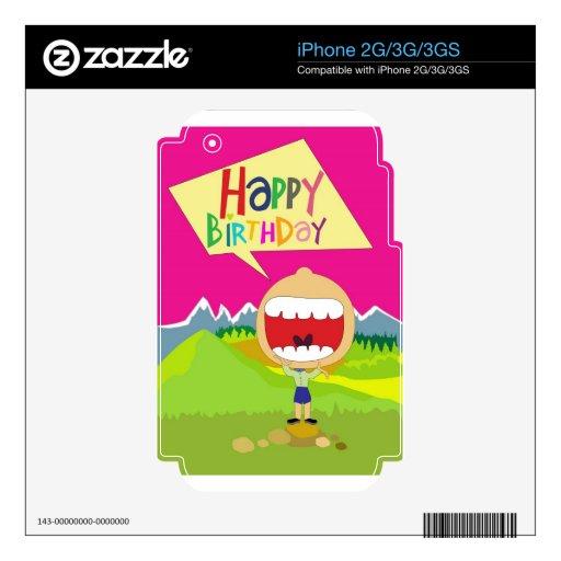 Happy Birthday iPhone 2G Decals