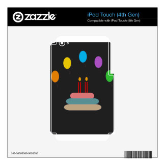 Happy Birthday iPod Touch 4G Skins