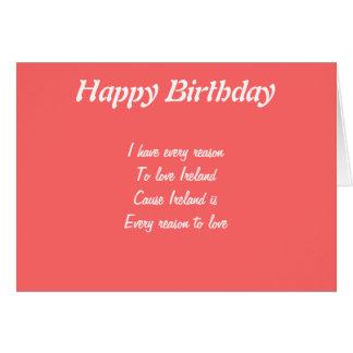 happy birthday ireland card