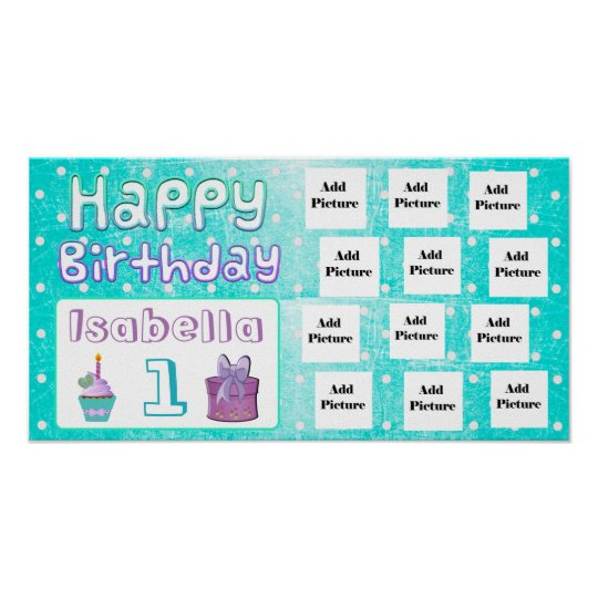 Happy Birthday Isabella Personalized Photo Poster