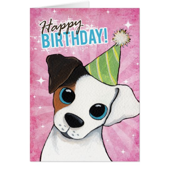Happy Birthday Jack Russell Party Dog Card