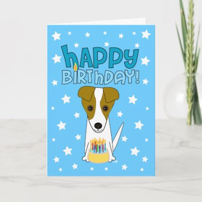 birthday cards images. Terrier Greeting Card by