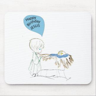 happy birthday Je3sus Mouse Pad