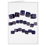 Happy Birthday Jennifer toy blocks in blue. Greeting Card