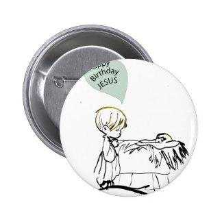 happy birthday jesus 2 inch round button