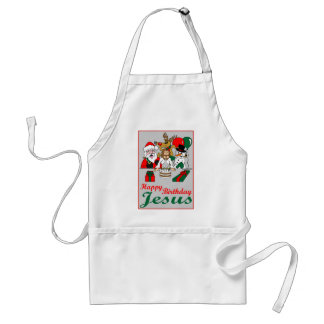 Happy Birthday Jesus Adult Apron