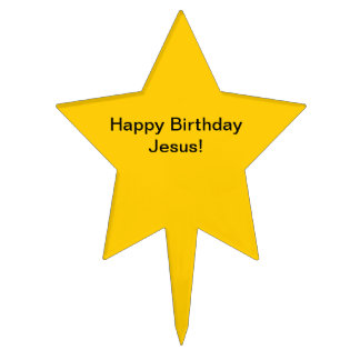 Happy Birthday Jesus Cake Topper