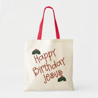Happy Birthday Jesus Christmas Gift Canvas Bag
