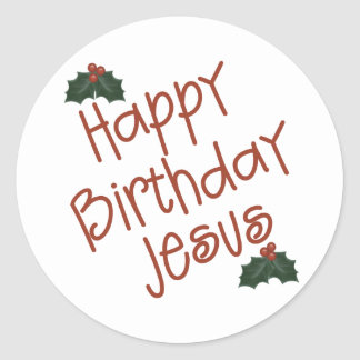 Happy Birthday Jesus Christmas Gift Classic Round Sticker