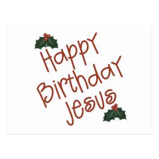 Happy Birthday Jesus Christmas Gift Postcards