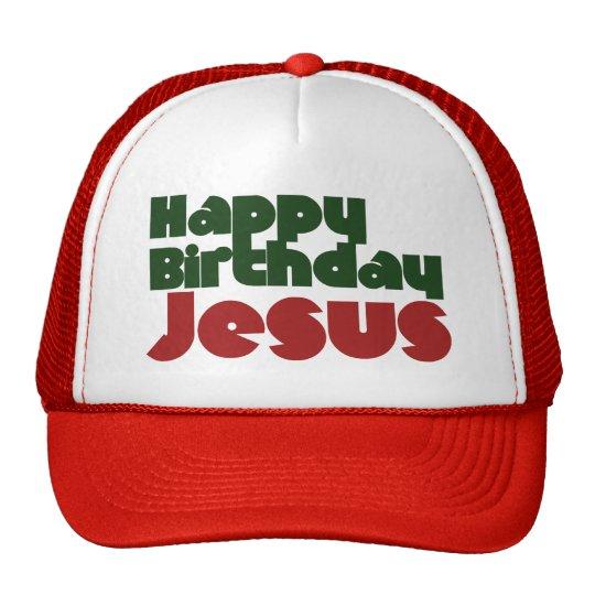Happy Birthday Jesus Christmas Trucker Hat