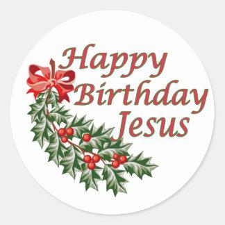 Happy Birthday Jesus Classic Round Sticker