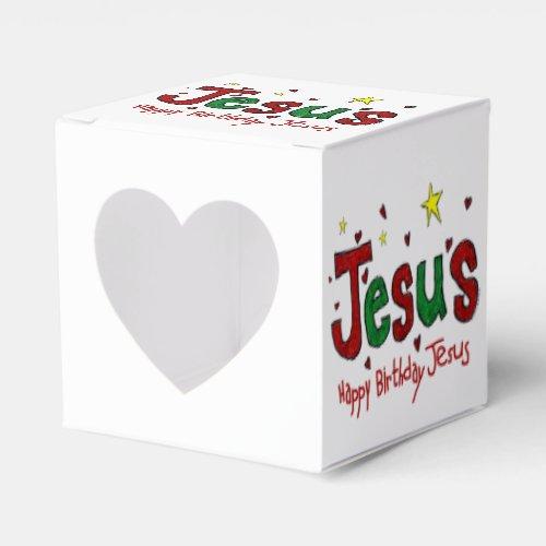Happy Birthday Jesus Favor Box