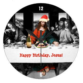 Happy Birthday, Jesus! Funny Christmas Large Clock