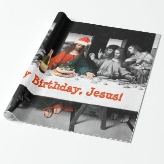 Happy Birthday, Jesus! Funny Christmas Wrapping Paper