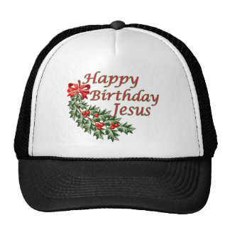 Happy Birthday Jesus Mesh Hats