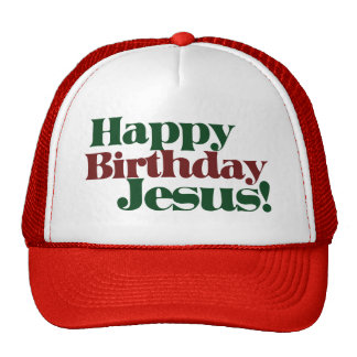 Happy Birthday Jesus it's Christmas Mesh Hat