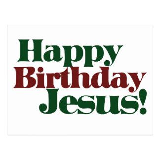 Happy Birthday Jesus it's Christmas Postcard