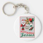 Happy Birthday Jesus Key Chains