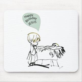 happy birthday jesus mouse pad