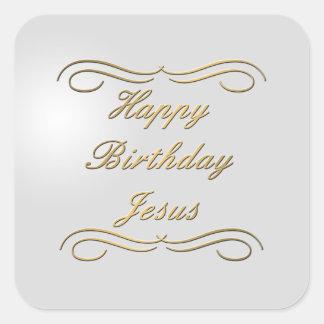 Happy Birthday Jesus Square Sticker