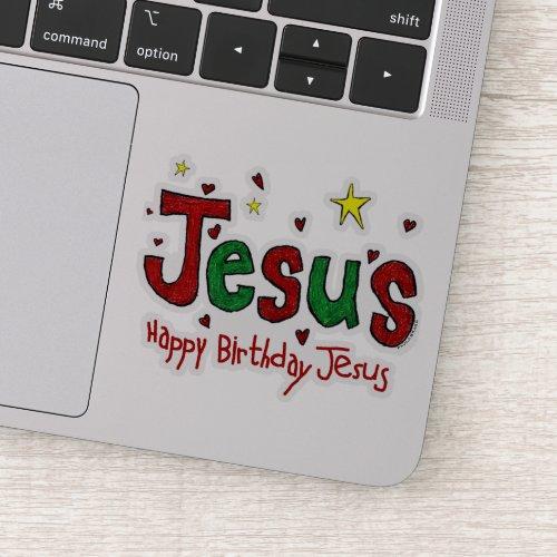 Happy Birthday Jesus Sticker