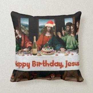 Happy Birthday, Jesus! Throw Pillow